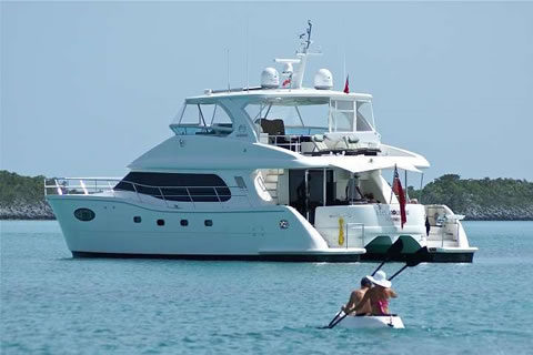 Power Catamaran Blue Horizon in the British Virgin Islands
